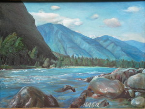 Голубой пейзаж. 1994, Х.м. 61 - 81