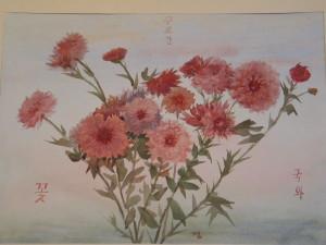 Хризантемы. 1997, Бум. акв. 30 -  41