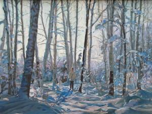 На лыжной прогулке. 1996, К.м. 48,5 - 68, 5